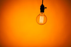 Bulb lamp with warm light Stock Photography