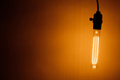Bulb lamp with warm light Royalty Free Stock Photography