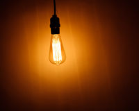 Bulb lamp with warm light Royalty Free Stock Photo