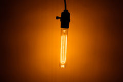 Bulb lamp with warm light Stock Image