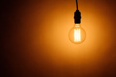 Bulb lamp with warm light Royalty Free Stock Image