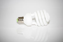 Bulb lamp on whit background with vignette effect Royalty Free Stock Image