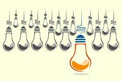 Bulb leadership Stock Image