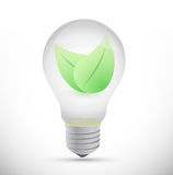 Bulb and leaves illustration design Stock Photos