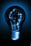 Bulb light. Over dark blue background Stock Images