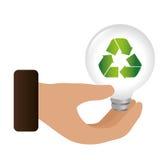 Bulb light ecology symbol Royalty Free Stock Image