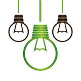 Bulb light ecology symbol Stock Image