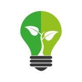 Bulb light ecology symbol Stock Photo