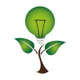 Bulb light ecology symbol Royalty Free Stock Photography