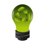 Bulb light ecology symbol Royalty Free Stock Images