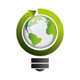 Bulb light ecology symbol Stock Images