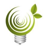 Bulb light ecology symbol Stock Photography