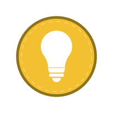 Bulb light energy electricity icon yellow circle Stock Photo