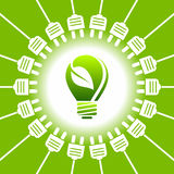 Bulb light - green energy - ecology concept Stock Photo