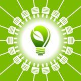 Bulb light - green energy - ecology concept Stock Photo