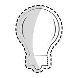 Bulb light icon. Over white background. vector illustration Royalty Free Stock Photo