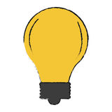 Bulb light icon. Over white background. vector illustration Royalty Free Stock Image