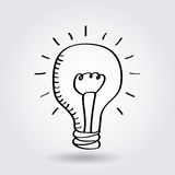 Bulb light icon Royalty Free Stock Images