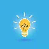 Bulb light idea. On blue background,vector illustration Royalty Free Stock Photo
