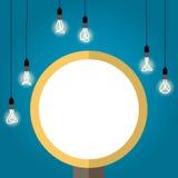 Bulb light idea. background lamp, Vector Illustration. Vector idea light bulb on the background. Illustration art 10eps Royalty Free Stock Image