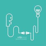 Bulb light idea Royalty Free Stock Photo