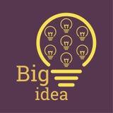 Bulb light idea. Royalty Free Stock Photo