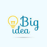 Bulb light idea. Royalty Free Stock Image