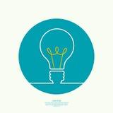 Bulb light idea Royalty Free Stock Images