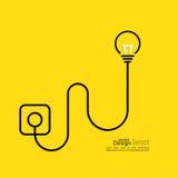Bulb light idea Royalty Free Stock Photography