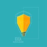 Bulb light idea Stock Image