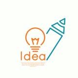 Bulb light idea Stock Images