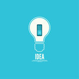 Bulb light idea with switch Royalty Free Stock Photos