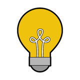 Bulb light isolated icon. Vector illustration design Royalty Free Stock Photos