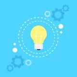 Bulb light lamp idea concept flat icon Stock Image