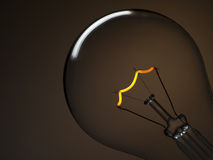Bulb Light Over Brown Royalty Free Stock Photo