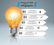 Bulb, light, paper infographic. Bulb, light paper infographic Vector eps 10 Royalty Free Stock Photography