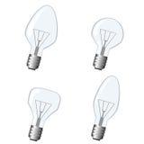 Bulb and light vector. Set. Royalty Free Stock Photos