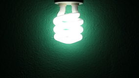 Bulb lighting on a wall stock video footage