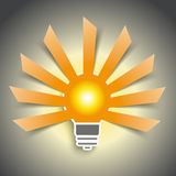Bulb Lightning Cutting Banners 9 Royalty Free Stock Photos