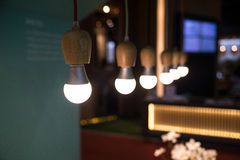 Bulb lights in room Royalty Free Stock Photography