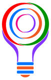 Bulb logo Royalty Free Stock Photo