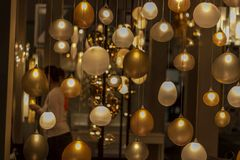 Bulb. A lot of different colours lights at ids15 Stock Photos