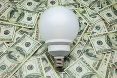 Bulb of low consumption Stock Image