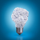 Bulb made of crumpled paper Royalty Free Stock Photos