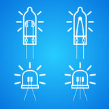 Bulb many different icon set Royalty Free Stock Photo
