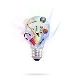 Bulb and many object Stock Image