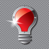 Bulb with metal plate Royalty Free Stock Photos