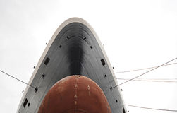 Bulb nose from a transatlantic ship Royalty Free Stock Photos