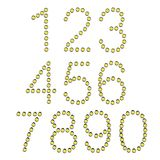 Bulb numbers. 2d illustration of bulb numbers Royalty Free Stock Photo