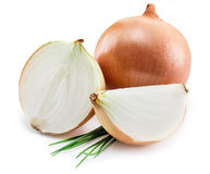 Bulb onion and green onions. Royalty Free Stock Images